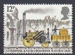 Großbritannien England gestempelt Liverpool Manchester Eisenbahn Lokomotive /422