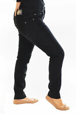 Womens Jeans Ladies Plus Size Straight Cut Denim Jeggings Pants Nouvelle 28 Size 22 Black