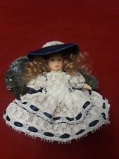 """Porcelain Bisque Doll 4.5"""" Tall"""