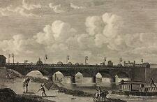 Pont du jardin du Roi gravure de 1820 Paris France