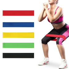 5pc Physical Therapy Exercise Resistance Loop Bands Stretch Strength for Fitness