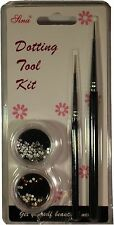 DOTTING TOOL KIT, Spot Swirl, strass, studio-qualità professionale per NailArt Set Nuovo