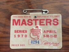 1970 USED MASTERS GOLF BADGE~COLLECTORS ITEM~VERY RARE TICKET~BILLY CASPER