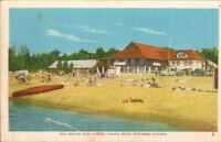 Vintage Postcard, GRAND BEND ONTARIO - Beach & Casino, c1940s, pb2