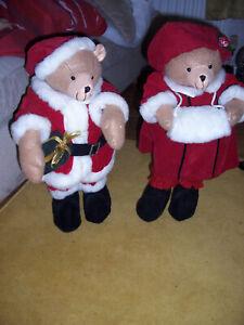 2x 20 inch christmas bears