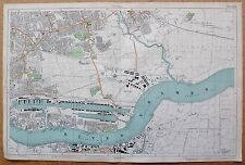 1912 Ca LARGE SCALE BACON STREET MAP- LONDON - PLAISTOW BARKING VICTORIA DOCK