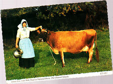 Used   Postcard, Channel Islands, Milkmaid with Jersey Cow, et6061