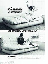 PUBLICITE ADVERTISING 106  1973  Cinna  le lit canapé Gao