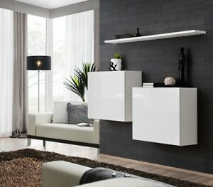 Shift SB I - white entertainment set furniture / living room wall unit