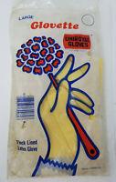 Vintage Pair of Uniroyal Gloves Glovette Flock Lined Latex Glove Large