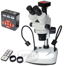 Simul-focal Trinocular Gooseneck LED Stereo Microscope +16MP HDMI 1080P Camera A