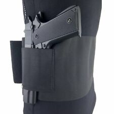 "Concealed Belly Band Pistol Holster  with 2 Magazine Pouch for 38"" to 50"" Waist"