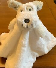 Starting Out Baby Security Blanket White Puppy Dog Gray Ears New