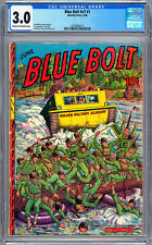 BLUE BOLT v.7 #1 CGC 3.0 GOLDEN AGE *WWII MILITARY OPS COVER* NOVELTY PRESS 1946