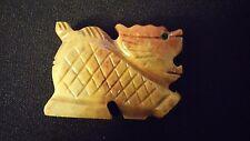 "DRAGON Spirit Animal Pocket Totem Carved Dolomite Stone 1.25"" Figurine Various"