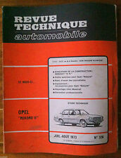 RTA du 7/1973; Opel Rekord II/ Reportage chez Maserati
