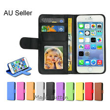 Premium PU Leather Flip Wallet Case Card Slot Cover For iPhone 5 SE 5S