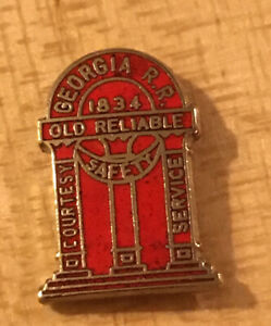 Georgia RR Tie Tac Old Reliable New On Card.  Hat Pin, Lapel Pin