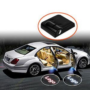 2xCar Led Wireless Door Courtesy Light for Renault Logo Welcome Shadow Laser