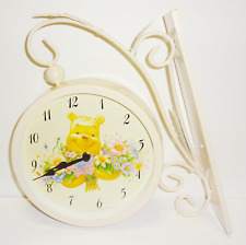 New Disney Classic Winnie the Pooh Double Sided Hanging Wall Clock