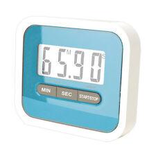 Kurzzeitmesser Küchenuhr Timer mit Magnet Digitalanzeige magnetisch blau