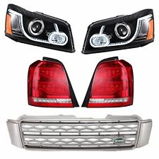 LED DRL Projector Headlights & Tail Light & Grille For 01-07 TOYOTA HIGHLANDER