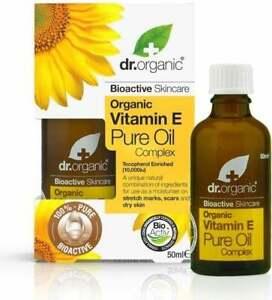 Dr Organic BioActive Vitamin Vit E Pure Oil Complex 50ml Dry/Stretch Marks/Scars