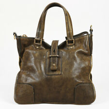 Belstaff Green Leather Satchel Bag