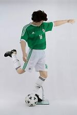 """6' 3"""" Tall Fiberglass Male Mannequin Realistic Style Soccer Player 40""""32""""40(Tny4"""