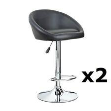 2 X BLACK Chrome Bar stool Swivel Venus Breakfast Kitchen barstool (X2) T313G