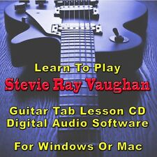 STEVIE RAY VAUGHAN Guitar Tab Lesson CD Software - 59 Songs
