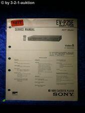 Sony Service Manual EV P25E Video 8 Cassette Recorder (#1077)