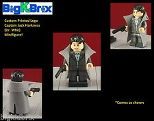 CAPTAIN JACK HARKNESS Custom Printed & Inspired Dr Who LEGO Minifigure