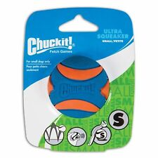 """CHUCKIT! ULTRA SQUEAKER Small BALL 2"""" High Bounce Squeaker Use Launcher Dog Toy"""