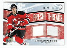 MATTHEW HALISCHUK FRESH THREADS DUAL GAME WORN JERSEY #01/25 - NEW JERSEY DEVILS