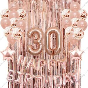 30th Happy Birthday Balloons Dirty 30 Ballons Tinsels Bday party supply baloonUK
