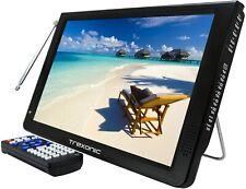 """Trexonic 12"""" Lightweight Portable Rechargeable LED TV HDMI AV SD USB VGA TR-D12"""