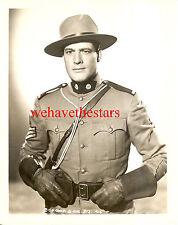 Vintage Charles Starrett QUITE HANDSOME '39 ROYAL MOUNTED POLICE Pub Portrait
