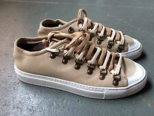 MEN'S J.W. ANDERSON LOW TOP SNEAKERS CANVAS TRAINER IN FLAX EYELET LACE UP NEW