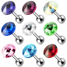 Tragus Piercing Ear Studs Cartilage Helix Barbell Ball Stud Crystal Earring