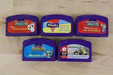 Lot of 5 Leap Pad Leapfrog Game Cartridges Shrek Monsters Reading Phonics Math