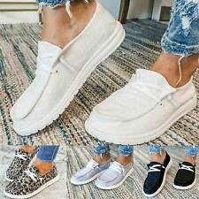 Ladies Women Pumps Slip On Flat Loafers Trainers Sneakers Casual Boat Shoes