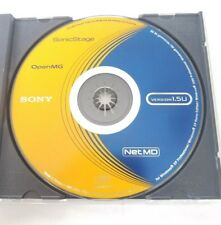 SONY Open MG Net MD Version 1.5u Sonic Stage for WindowsMinidisc Software