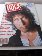 rock & folk ,bob dulan , kravitz,wonder stuff ,N°271, fevrier 1990 (cpa105)