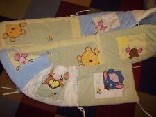 Kidsline Disney Winnie the Pooh Plush Velour Crib Bumper Pads Set Piglet roo