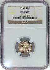 1953 Roosevelt Dime - NGC MS 65 FT (Full Torch)