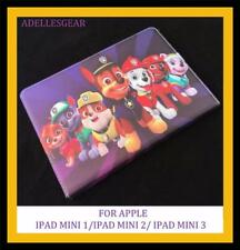 KIDS OR CHILDRENS  IPAD MINI 1 2 OR 3 COVER CASE -PAW PATROL PURPLE RED DESIGN 2