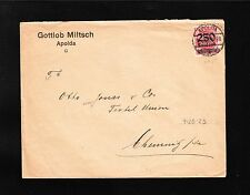 Germany INFLATION Gottlob Miltsch Apolda 1923 Single Franked Cover ^