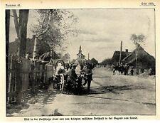 Dorfstrasse einer besetzten russischen Ortschaft bei Kowel 1916 *  WW1