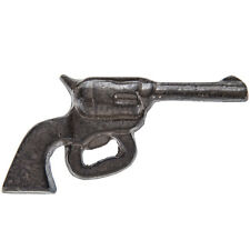 Revolver  Pistol  Bottle Opener - Rust - Cast Iron. Western Cowboy Home Decor